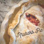 Rhubarb pie image